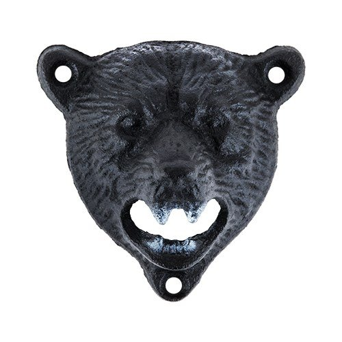 Cute Beer Opener, Cast Iron Wall Mounted Bear Funny Cool Pocket Beer Openers