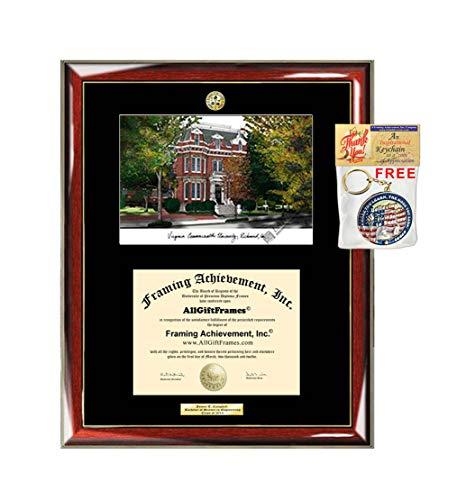 Virginia Commonwealth University Diploma Frame VCU School Lithograph Major Logo Degree Graduation Gift Display Graduate Plaque Graduate
