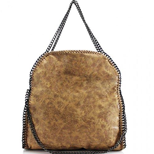 Shoulder Handbag MINI Brown Designer Messenger EDGE LARGE Hobo Women's Large CHAIN Bag 7x0gwEn