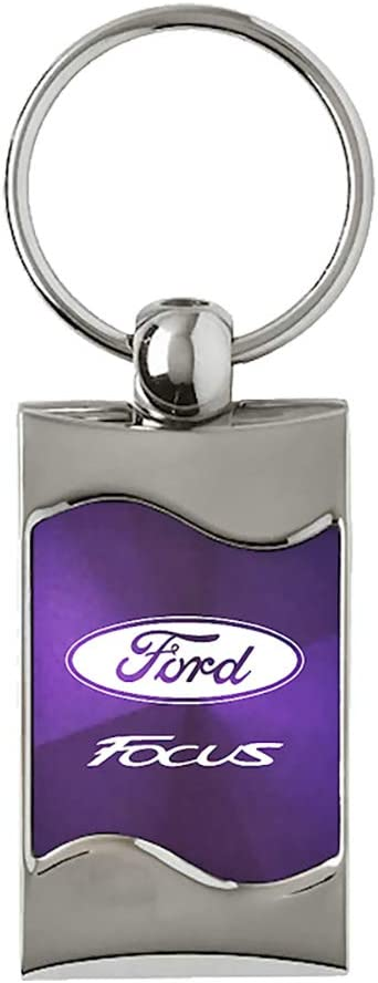 KC3075.FOC.PUR Upgrade Your Auto Au-TOMOTIVE Gold Compatible Keychain and Keyring for Ford Focus Purple Wave