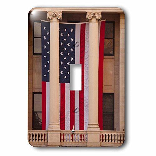 3dRose Danita Delimont - Flags - USA, GA, Savannah, Savannah City Hall displaying the American flag. - Light Switch Covers - single toggle switch - Ga Savannah Outlets
