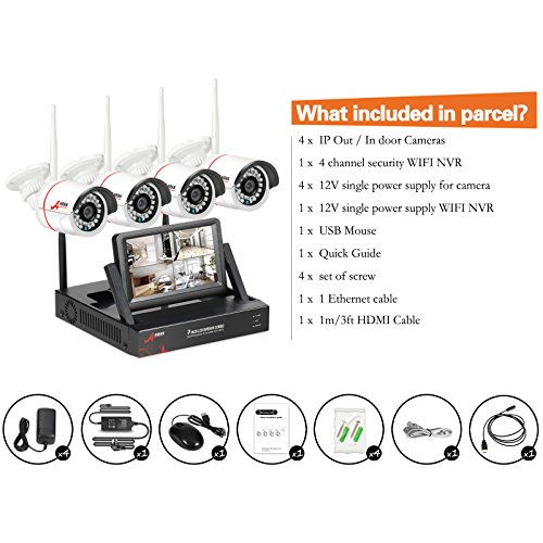 security camera system wireless wireless surveillance camera system anran 4channel with 7inch. Black Bedroom Furniture Sets. Home Design Ideas
