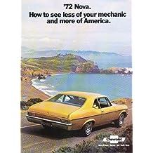A BEAUTIFUL 1972 CHEVY NOVA DEALERSHIP COLOR SALES BROCHURE - ADVERTISMENT FOR Custom, SS, Super Sport, Coupe. - CHEVEROLET 72