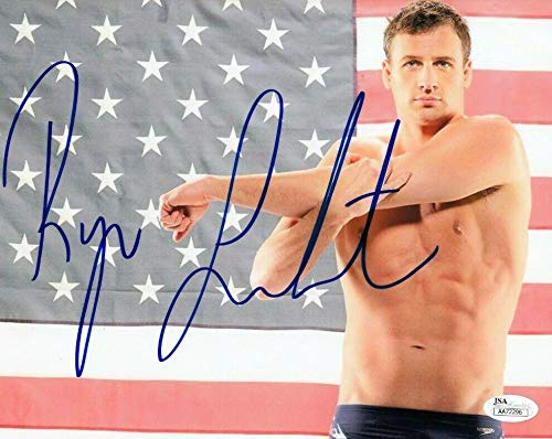 Ryan Lochte Signed USA Olympics Swimming 8x10 Photo Autograph COA #AA72296 - JSA Certified - Autographed Olympic Photos