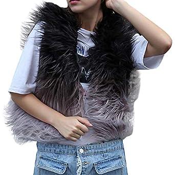 Linlink Mujeres Chaqueta deartificial Jacket Invierno Abrigos: Amazon.es: Ropa y accesorios