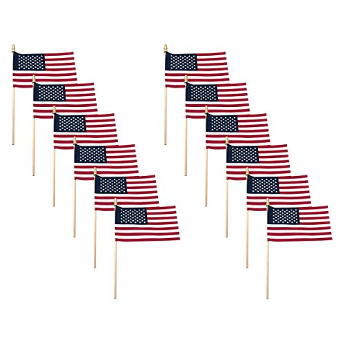 American Flags For Outside On Stick 4x6 Small USA Flag 12 Pa