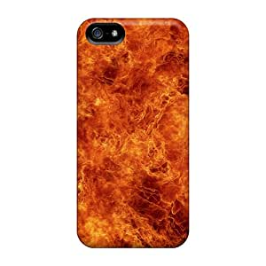 Tpu Case Cover For Iphone 5/5s Strong Protect Case - Fire Flames Design