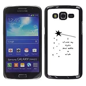 TopCaseStore / la caja del caucho duro de la cubierta de protección de la piel - Quote Poem White Black Motivational - Samsung Galaxy Grand 2 SM-G7102 SM-G7105