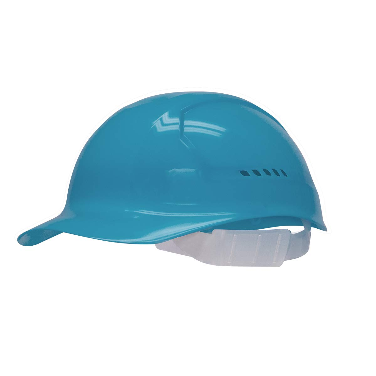 Bullard Slate Blue HDPE Cap Style Bump Cap With Slidelock Suspension And Vinyl Browpad - Pack of 25