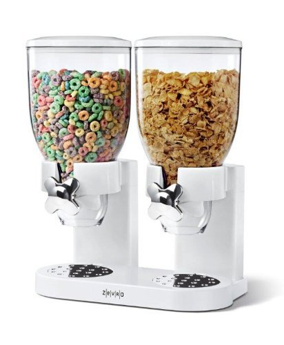 Zevro KCH-06123/GAT201C Indispensable Dry Food Dispenser, Dual Control, White/Chrome by ZevrO (Indispensable Dry Food Dispenser)