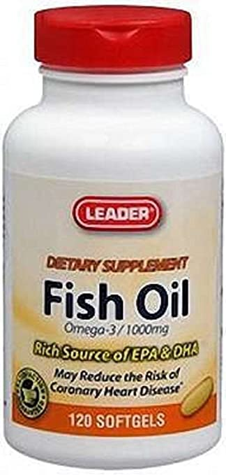Amazon.com: Líder Aceite de Pescado 1000 mg Omega-3 softgels ...