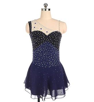 Vestido de Patinaje artístico Azul Marino para niñas y ...