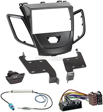 Ford Fiesta JA8 mit Display 10-13 2-DIN Autoradio Einbauset Radioblende