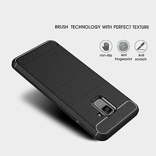 Samsung Galaxy A8 (2018) Funda, Electro-Weideworld Cubierta Delgado material de silicona Funda Protective Case Cover [Diseño durable] [Máxima protección contra golpes] para Samsung Galaxy A8 (2018)