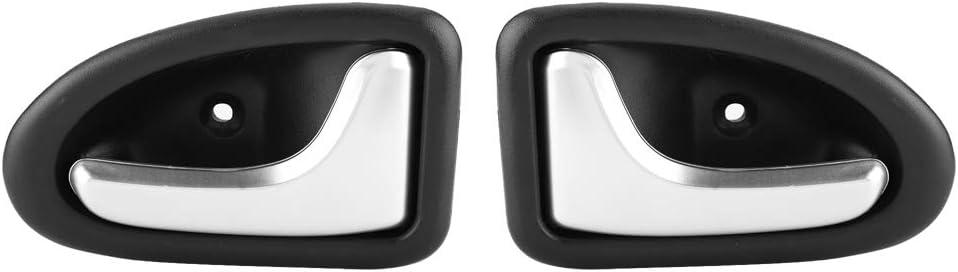 Manija de la puerta de Akozon Cubierta de la manija de la puerta del interior del automóvil Recipiente para el RENAULT CLIO SCENIC TRAFIC 8200915599(1 pair)