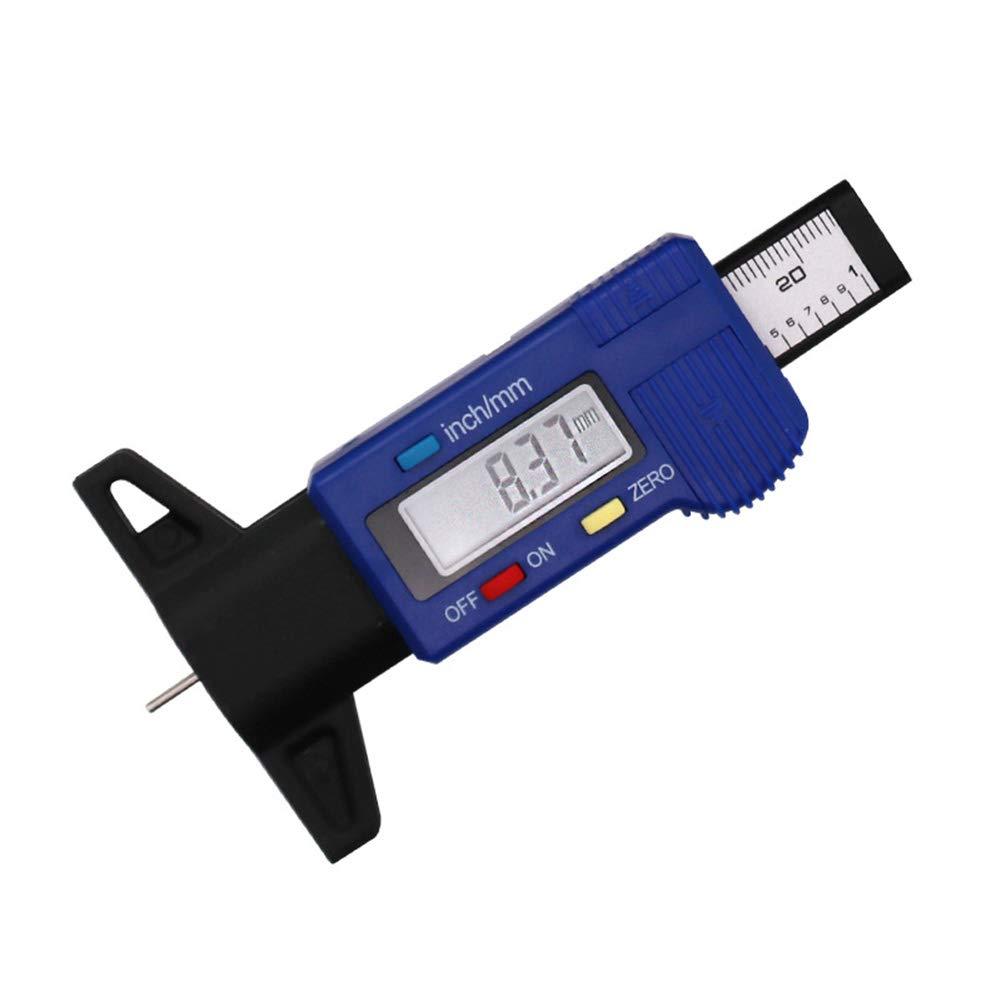 pastiglie Freno Tester per Pneumatici misuratore Digitale di profondit/à per Pneumatici con Schermo LCD da 0 a 25 mm misuratore del battistrada LNIMIKIY