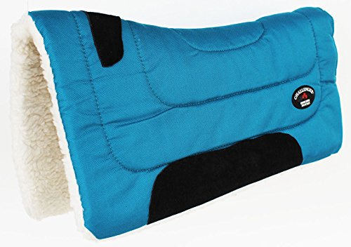 (CHALLENGER Horse Saddle PAD Western Riding Show Trail Cordura Top Fur Bottom Full 39143TL)