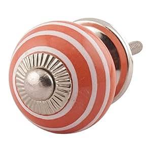 12 piezas de cer mica artesanal indianshelf rayas naranja for Herramientas ceramica artesanal