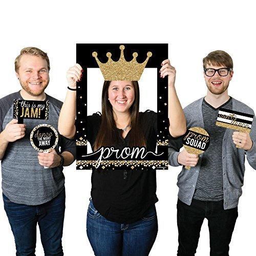 Prom - Prom Night Party Selfie Photo Booth Picture Frame & Props - Printed on Sturdy Material