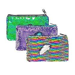 Reversible Sequin Pencil Pouch
