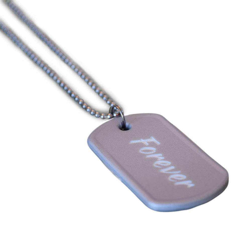 Men 100/% Silicone Fundraisers Personalized Customizable Dog Tag Events For Awareness Causes Reminders Military Army Engraved ID Tag Necklace Kids Support No Silencer Needed Pets Women