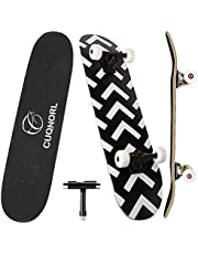 CUQNORL Skateboards 31 Inch Complete Skateboard Double Kick Skate Board 7 Layer Canadian Maple Deck Skateboard for Kids and Beginners