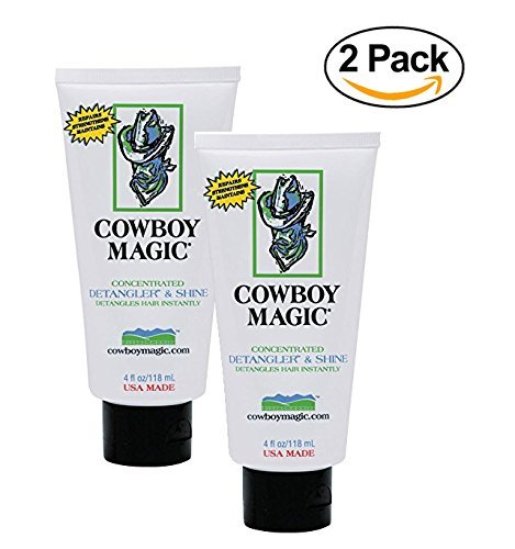 Cowboy Magic Detangler & Shine for Horse, 4 oz - 2 Pack Conditioner, White (Words To Save A Horse Ride A Cowboy)