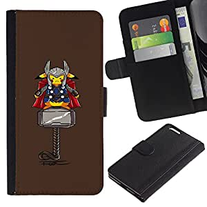 UNIQCASE - Apple Iphone 6 PLUS 5.5 - Pika Superhero - Cuero PU Delgado caso cubierta Shell Armor Funda Case Cover