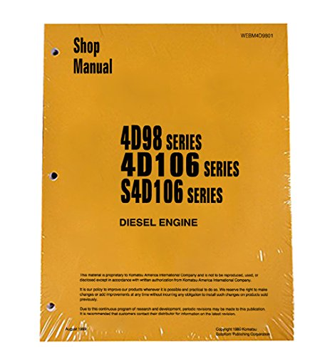 - Komatsu Service Engines 4D98/4D106/S4D106 Yanmar Manual