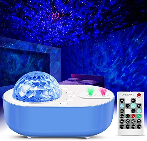 Star Projector Night Light Sky Galaxy Projector Ocean Wave Starry Night Light Projector with Bluetooth Music Speaker & Remote Control for Bedroom, Home Theatre, Game Rooms, Kids