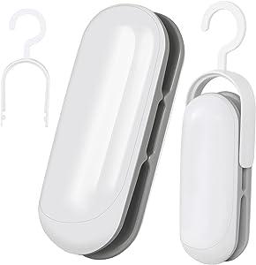 Mini Bag Sealer, 2 Pack Portable Sealing Machine Plastic Bag Sealer, 2 in 1 Heat Seal and Cutter, Handheld Food Sealer Heat Seal for Chip Bag & Plastic Bags, Food Storage