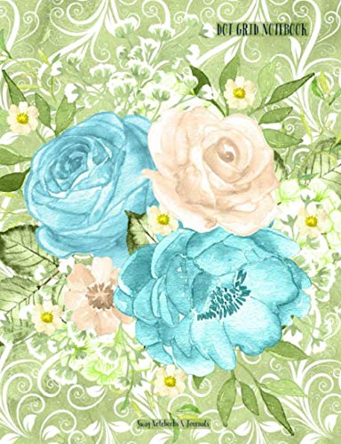 Dot Grid Notebook: Blue Cabbage Roses, Dotted Paper for sale  Delivered anywhere in USA