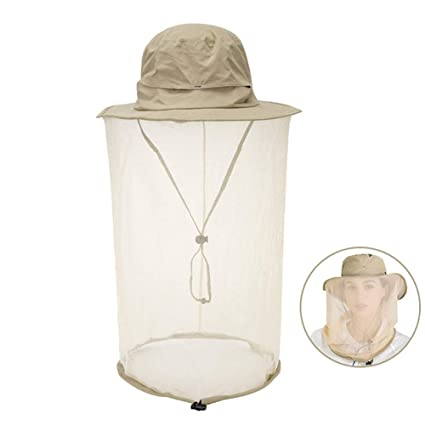 dc8b2df5546a0c AHuShi Mosquito Head Net Hat,Sun Hat Beekeeper Bucket Hat,Repellent Bucket  Hat with Hidden Removable Net Mesh,Protection from Insect Bug Bee Mosquito  for ...