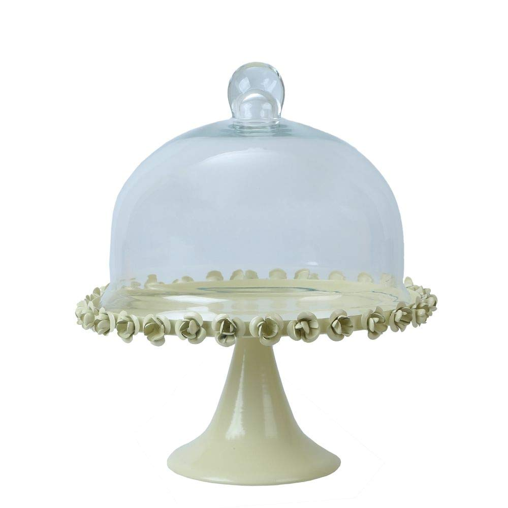 Pasabahce Footed Clear Glass Edged Cake Stand Patisserie 32cm Diameter NEW