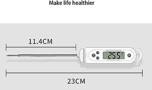bater/ía incluida Basic term/ómetro de cocina irrigoso Term/ómetro para horno carne con sonda temporizador de cocina con alarma para barbacoa barbacoa