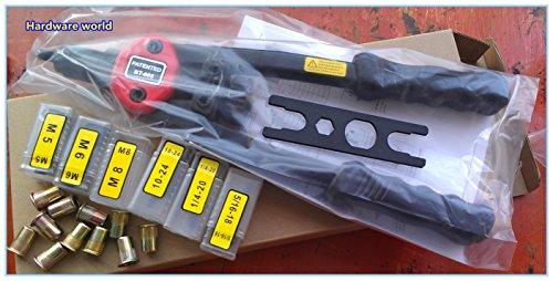 M5 M6 M8 SAE 10-24, 1/4-20, & 5/16-18 Nut/thread Hand Riveter Kit
