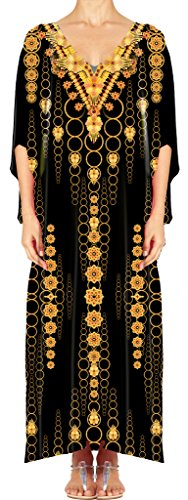 Women's Turkish Kaftan Beachwear Swimwear Bikini Cover ups Beach Dresses DG21-1 by D G PRINTS FAB
