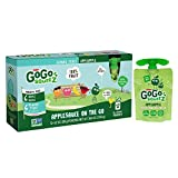 GoGo squeeZ Applesauce on the Go, Variety Pack (Apple/Gimme 5), 3.2 Ounce (12 Pouches), Gluten Free, Vegan Friendly, Healthy Snacks, Unsweetened Applesauce, Recloseable, BPA Free Pouches
