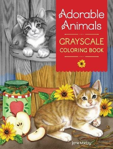 Adorable Animals Grayscale Coloring (Adorable Animals)