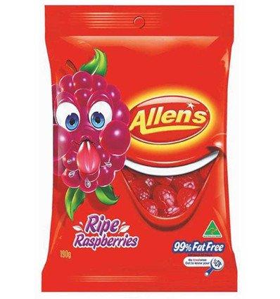 Allens Ripe Raspberries 190g (Australian Candy)