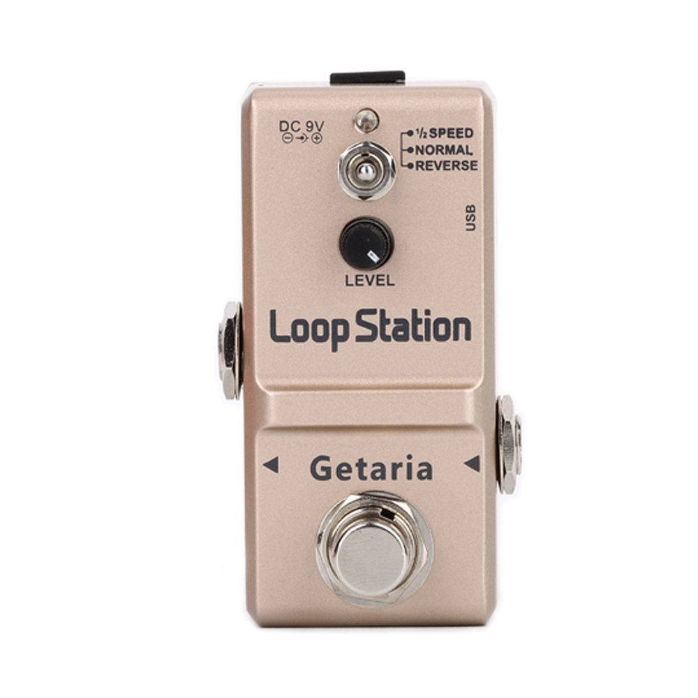Getaria Looper Effects Pedals Unlimited Overdubs 10 Minutes of Looping