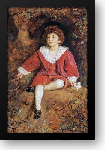 Study Of The Hon John Neville Manners 19x22 Framed Art Print by Millais, Fiona