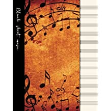 Blank sheet music: Music manuscript paper / staff paper / perfect-bound notebook for composers, musicians, songwriters, teachers and students - 100 pages - 12 staves per page - Notes, notes, notes cover