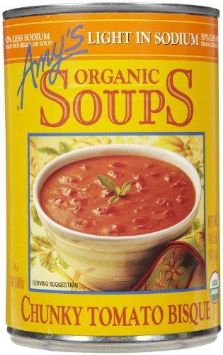 Amy's Chunky Tomato Bisque, Low Sodium, 14.5 oz, 2 - Chunky Organic Bisque Tomato