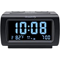 DreamSky Alarm Clock Radio FM with USB Port for Bedroom, 1.2 Inch Bold Digit Display with 0%-100% Dimmer, Temperature…