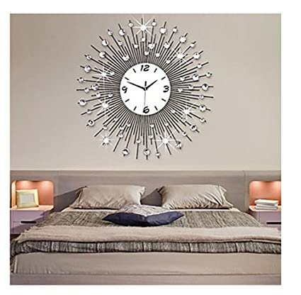 Amazon.com: Wall Clocks Large Decorative Metal Modern Style Metal ...
