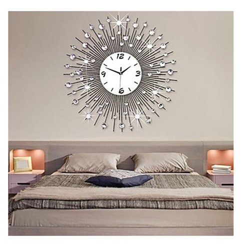 Wall Clocks Large Decorative Metal Modern Style Metal Mute Wall Clock, Wall Clock Decorative Living Room (3) by Wall Clocks