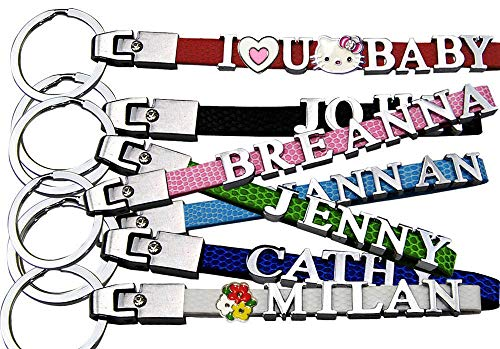 (Personalized Key Chain, Name keychain, Custom Keychain with Metal letters(1-8 letters).)