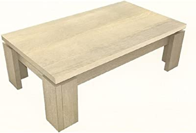New Sonora Wooden Coffee Table Rectangular In Oak   Modern Style Rectangle  Base Design Home Living