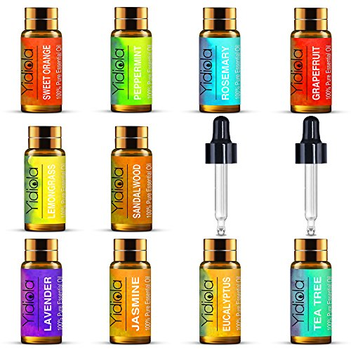 YIDIOLA Top 10 Essential Oils Set, 100% Pure La...